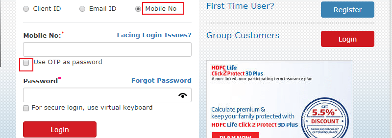 HDFC Life Registration Process-2
