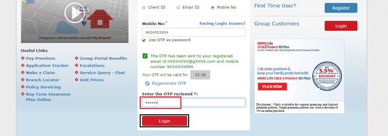 HDFC Life Registration Process-4