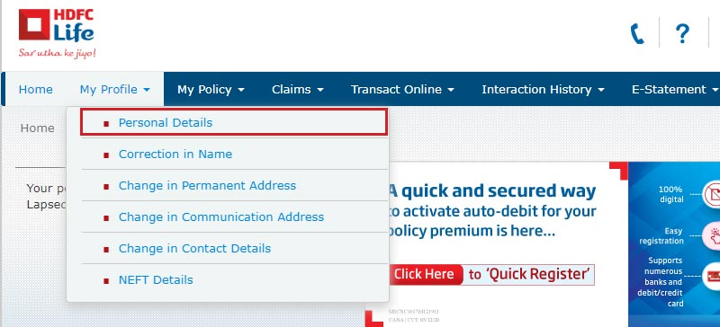 How to Make Changes in HDFC Life Insurance Policy Online ...