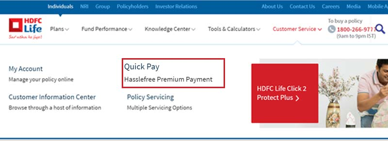 HDFC Life Quick Pay