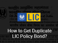 Duplicate LIC Policy Bond