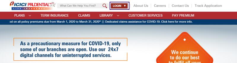 ICICI Pru Life Insurance Portal Login