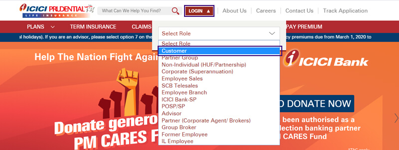 ICICI Pru Customer Login