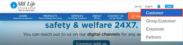 sbi life insurance customer login