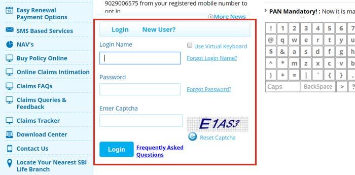 SBI Life insurance login