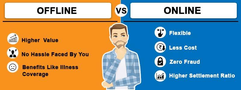 offline & online term insurance