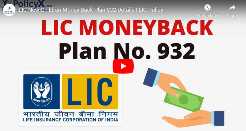 Lic New Children Money Back Plan Details
